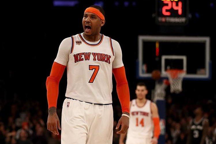 Carmelo Anthony tenía otros planes para este fin de semana, pero ahora jugará su décimo juego de las estrella. (Foto Prensa Libre: AFP)