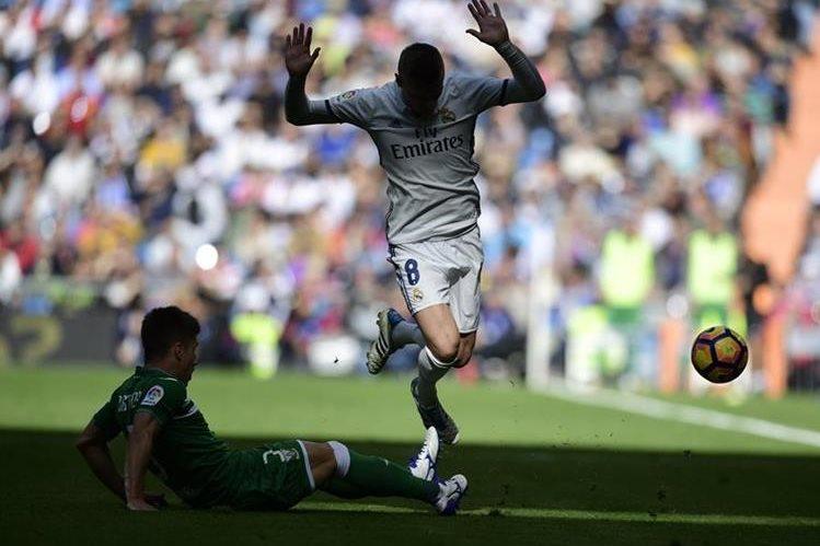 Kroos se lesionó en el partido frente al Leganés. (Foto Prensa Libre: Hemeroteca PL)
