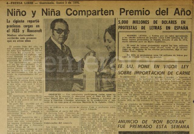 En 1975 se repartió el primer lugar entre un niño y una niña. (Foto: Hemeroteca PL)