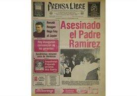 Portada del 9/11/1983, con la muerte de fray Augusto Ramírez Monasterio. (Foto: Hemeroteca PL)