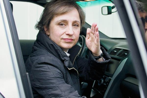 La periodista  mexicana Aristegui logra recurso contra radio que la despidió. (Foto Prensa Libre:AFP)