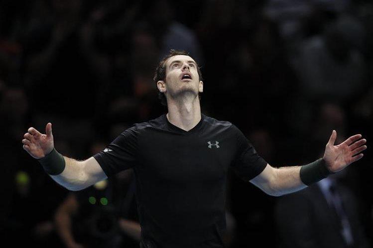 Andy Murray festeja su pase a la final. (Foto Prensa Libre: AP)