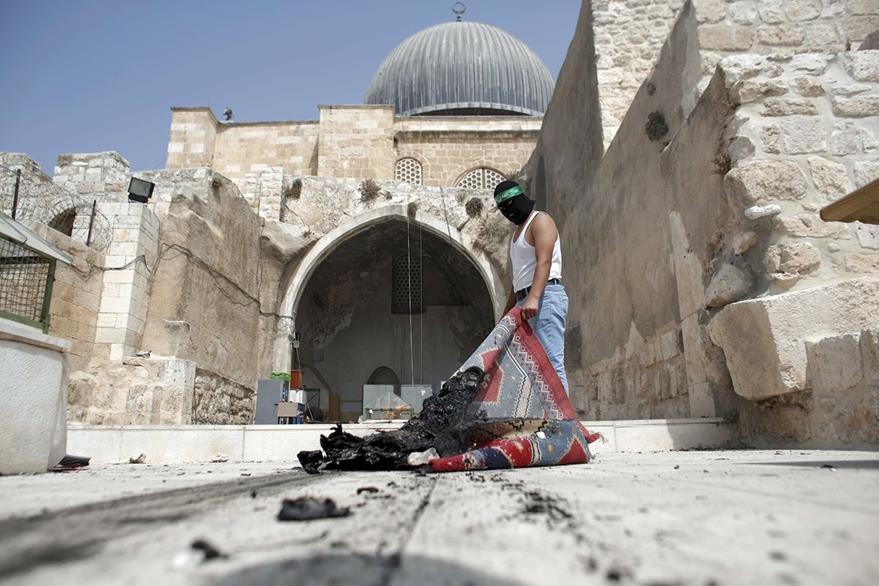 La Mezquita de Al-Aqsa, en Jerusalén Este, es un templo musulmán. El lugar es centro de disputas entre israelíes y palestinos. (AFP)