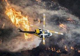 Cuatro grandes incendios en los alrededores de Los Ángeles, California