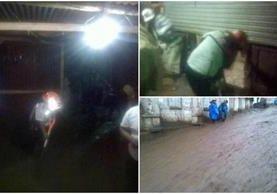 El deslave afectó tres viviendas ubicadas en la comunidad Chirijuyú, Santa Catarina Barahona. (Foto Prensa Libre: @ASEIGUATEMALA)