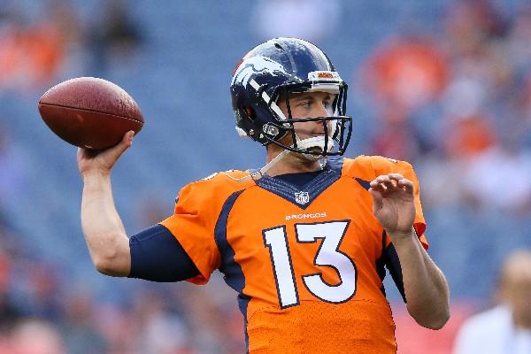 Trevor Siemian será el nuevo mariscal oficial de los Broncos de la NFL. (Foto Prensa Libre: AFP)