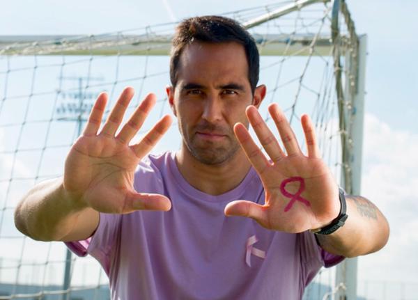 Claudio Bravo del Barcelona es uno de los más entusiastas a favor de la campaña. (Foto Prensa Libre: Twitter)