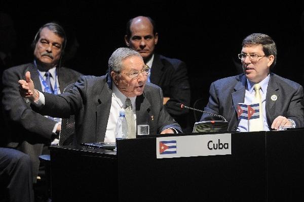 Raúl Castro, presidente de Cuba, celebra que su país asuma la presidencia de la Celac.