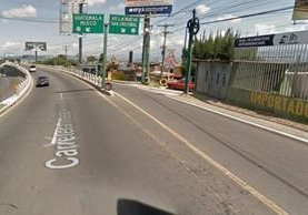 El carril auxiliar de San Lucas Sacatepéquez, hacia San Cristóbal, estará cerrado. (Foto: Google Maps)