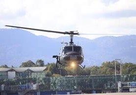 La Contraloría denunció a exfuncionarios de la cartera del Interior por irregularidades en el mantenimiento de helicópteros. (Foto Prensa Libre: Hemeroteca PL)