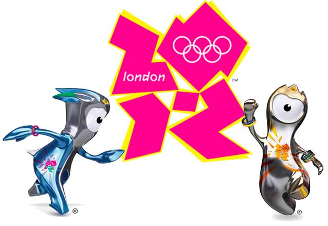 Las mascotas oficiales Wenlock y Mandeville rodean el logo de los Juegos Olímpicos de Londres 2012. (Foto: Hemeroteca PL)