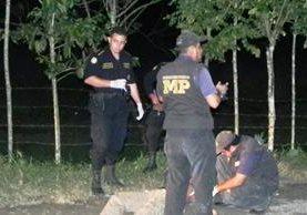 """<p>Fiscales del Ministerio Público y agentes de la Policía buscan evidencias en el lugar del crimen ocurrido en Izabal. (Foto Prensa Libre: Edwin Perdomo)<br _mce_bogus=""""1""""></p>"""