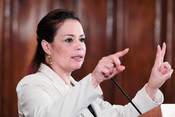 Roxana Baldetti estará en reposo absoluto durante 10 días por problemas gastrointestinales. (Foto Prensa Libre: Hemeroteca PL)