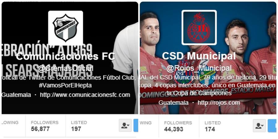 Comunicaciones y Municipal también compiten en las redes sociales. (Foto Prensa Libre: Twitter)
