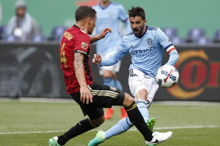 El jugador español David Villa se ha convertido en la gran figura de la MLS. (Foto Prensa Libre: AP)