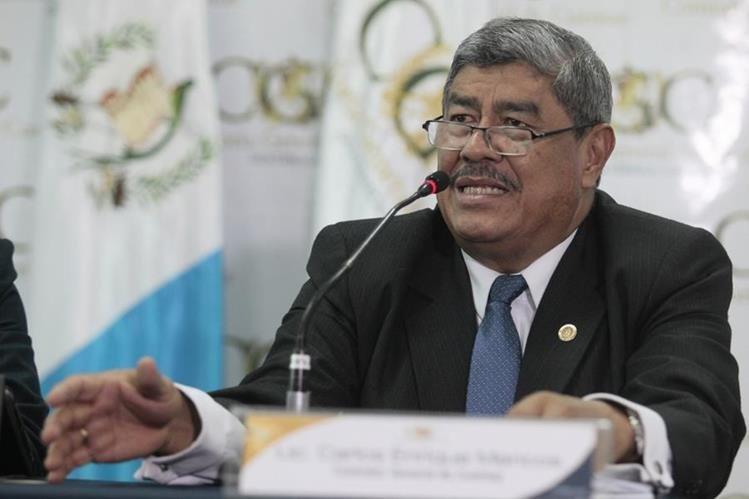 El jefe de la contraloría, Carlos Mencos negó haber tenido alguna participación sobre el contrato de usufructo oneroso entre TCQ y EPQ. (Foto Prensa Libre: Hemeroteca PL)