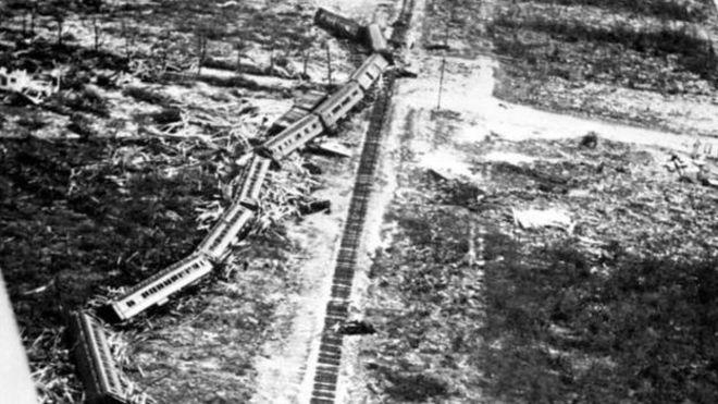 La mayor parte de los muertos en el descarrilamiento del tren de 1935 eran veteranos del Ejército ARCHIVO DEL ESTADO DE FLORIDA
