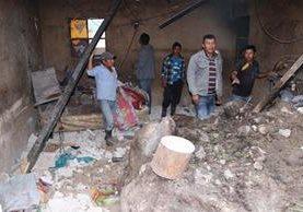 Una de las casas dañadas por el deslave en Tecpán Guatemala, Chimaltenango. (Foto Prensa Libre: Víctor Chamalé)
