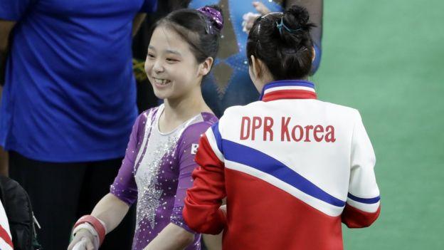 Lee no pudo clasificar a las rondas finales, pero Hong sí lo hizo en salto. (AP)