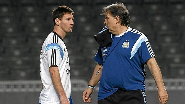 Martino afirma que la selección no depende de Messi para sacar buenos resultados. (Foto Prensa Libre: Hemeroteca PL)