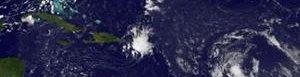 Tormenta tropical Erika.