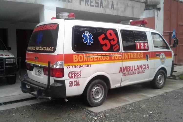 Bomberos Voluntarios de Salamá, Baja Verapaz, reportaron el hallazgo del cadáver de un recién nacido. (Foto Prensa Libre: Bomberos Voluntarios)