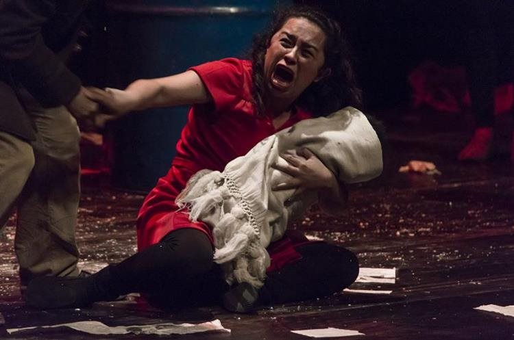 El dolor y la angustia se percibieron en la puesta en escena.