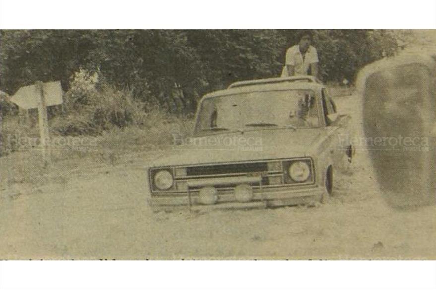 Desborde del río Achiguate, en 1978. (Foto: Hemeroteca PL)