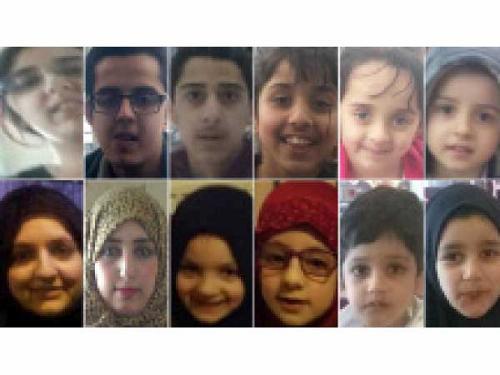 Los 12 integrantes de las tres familias británicas que viajaron a Turquía y luego a Arabia Saudí. (Foto: theguardian.com).