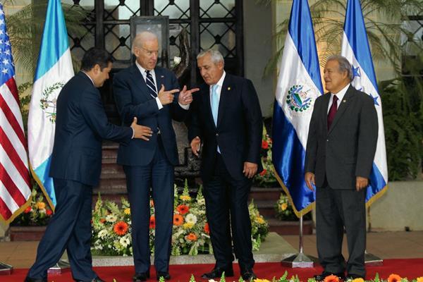 El vicepresidente  de Estados Undios, Joe Biden, visitó el país hace tres semanas y se reunió con los mandatarios de Honduras, Guatemala y El Salvador para tratar el tema. (Foto Prensa Libre: Hemeroteca PL)