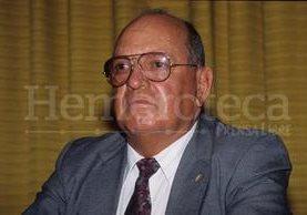 El general en situación de retiro, Óscar Humberto Mejía Víctores, en vida. (Foto Prensa Libre: HemerotecaPL)