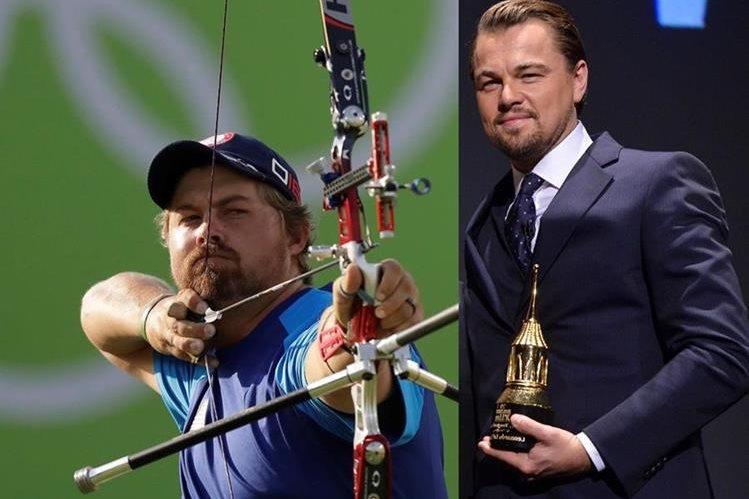 El doble de Leonardo DiCaprio surge en Río 2016. Se trata del arquero Brady Ellison. (Foto Prensa Libre: EFE)