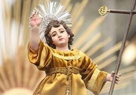 Imagen del Niño Jesús Resucitado, de la Catedral Metropolitana, hará su recorrido por el Centro Histórico. (Foto Prensa Libre: Hemeroteca)