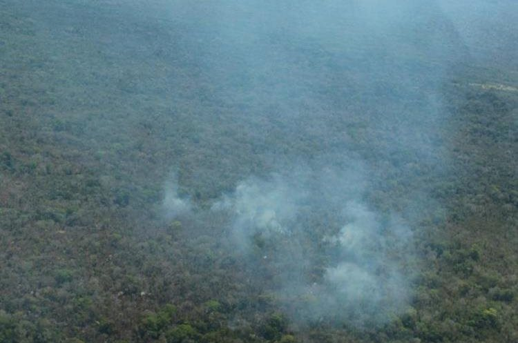 Incendios forestales amenazan zonas vírgenes en Petén.(Foto Prensa Libre: Rigoberto Escobar)