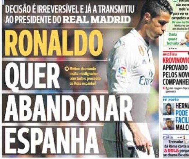 Cristiano Ronaldo, otra vez en polémica por sus declaraciones