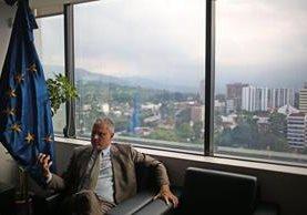 Stefano Gatto, embajador de la Unión Europea en Guatemala. (Foto Prensa Libre:EFE).
