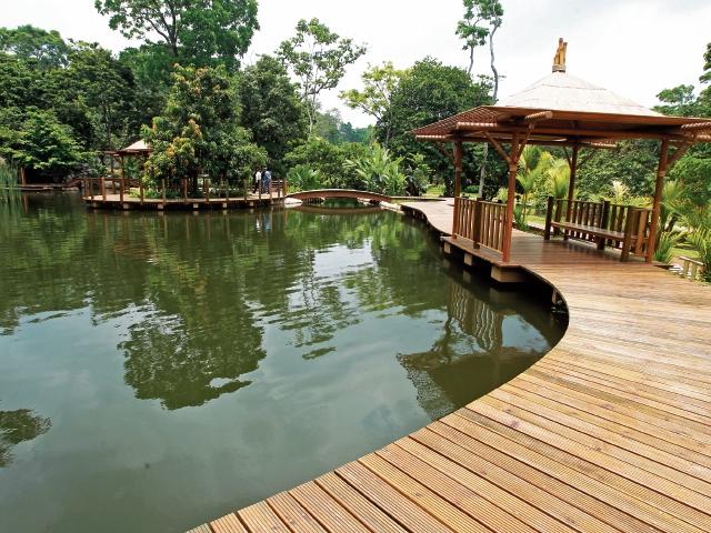 Las casas en forma de árbol son parte de la innovación que brindará el nuevo parque Xejuyup, para mantener el concepto de ecoturismo. (Foto Prensa Libre: Estuardo Paredes)