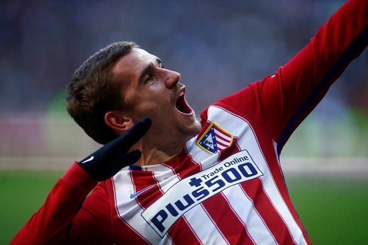 Griezmann se encargó de fulminar el sueño de La Liga del Real Madrid. (Foto Prensa Libre: AP)