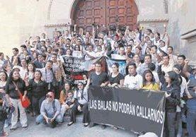 Asociaciones de periodistas piden un plan de protección. (Foto Prensa Libre: Hemeroteca PL)