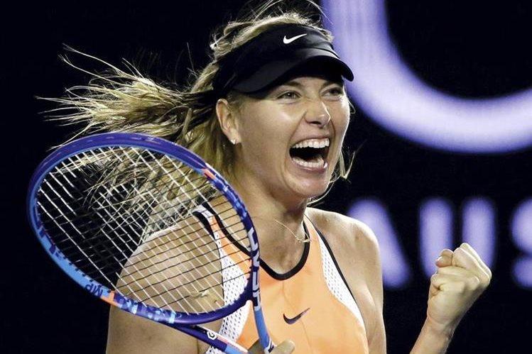 La rusa María Sharapova podrá volver a las canchas en abril de 2017 luego de la reducción de su sanción por dopaje. (Foto Prensa Libre: Hemeroteca)