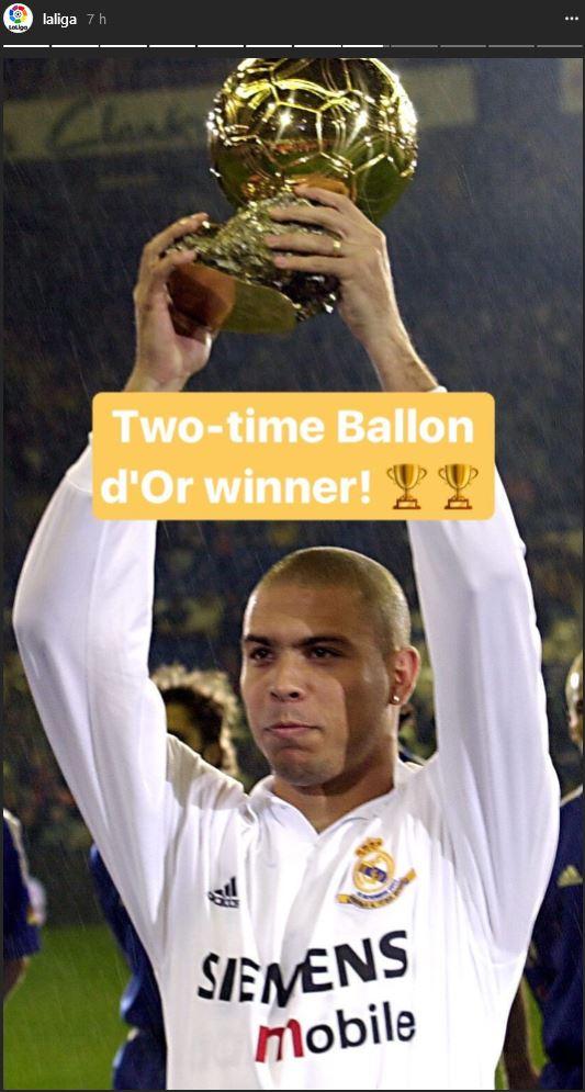 En 2002, como jugador del Real Madrid, ganó su segundo Balón de Oro al mejor jugador de la Fifa. (Foto Prensa Libre: Instagran)