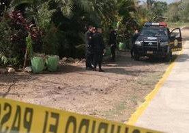 Lugar donde se ubica la vivienda donde murió la víctima en Barberena, Santa Rosa. (Foto Prensa Libre: Oswaldo Cardona).