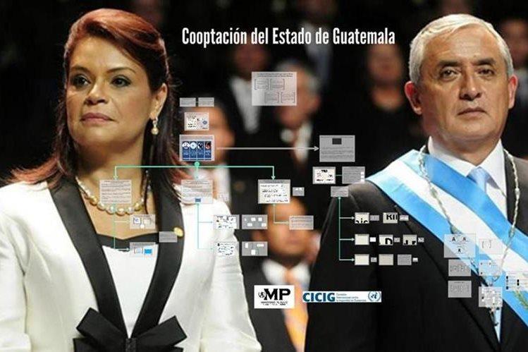 El MP y la Cicig implican en un nuevo caso de corrupción a Baldetti, Pérez Molina y 65 personas más. (Foto Prensa Libre: tomado de Cicig)