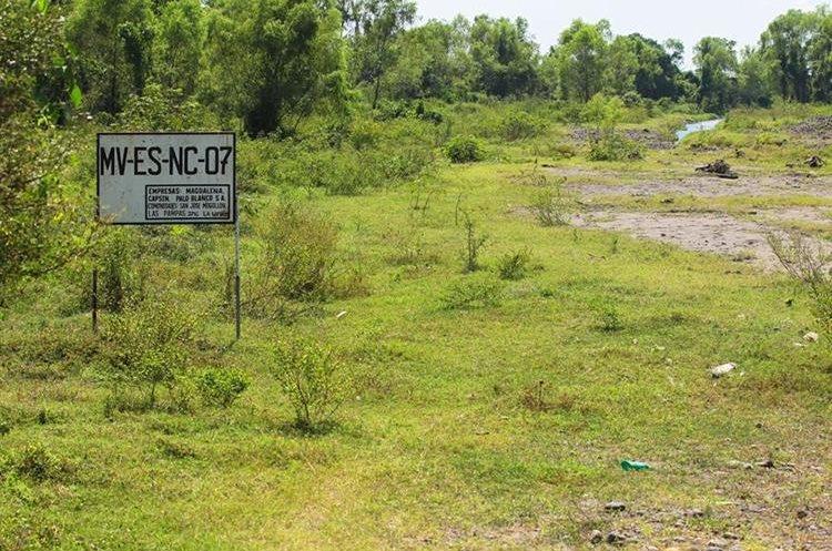Identificación de una toma de agua en la cuenca del río Madre Vieja.