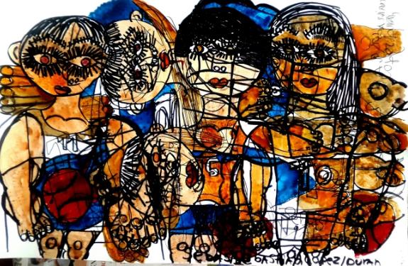 Una de muchas pinturas que ha elaborado Sebastián.(Prensa Libre:cortesía)