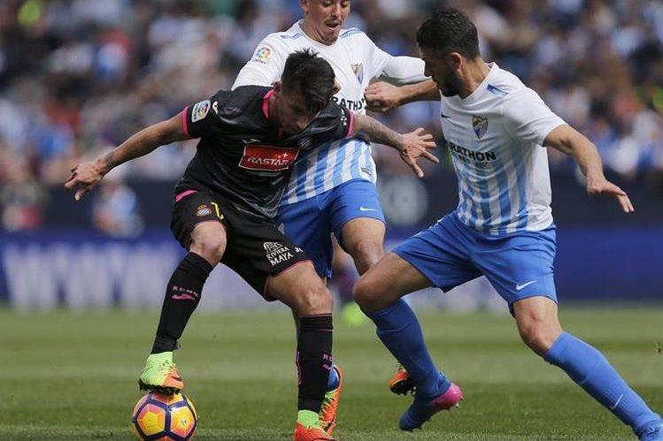 El Espanyol no dejó escapar la victoria y hundió al Málaga este sábado. (Foto Prensa Libre: EFE)