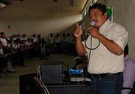 José María Cabnal Bol, alcalde de Sayaxché, Petén. Foto Prensa Libre: Rigoberto Escobar.