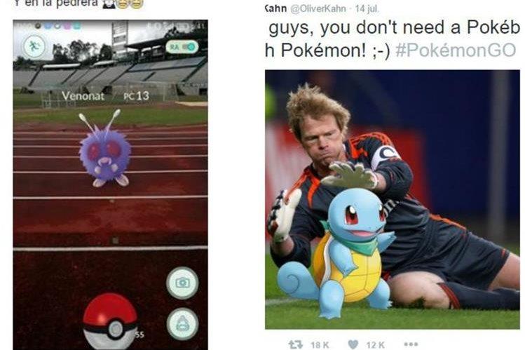 Futbolistas nacionales e internacionales han caído con el juego Pokemon Go. (Foto Prensa Libre: Redes Sociales)
