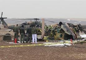 Un helicóptero militar turco, Sikorsky S-70, cayó el 17 de diciembre del 2015.