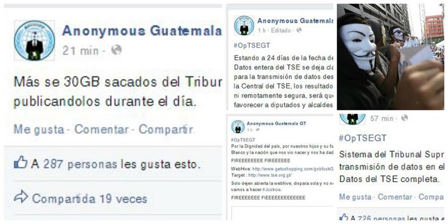 Según Anonymus Guatemala tienen en su poder la base de datos del Tribunal Supremo Electoral. (Foto: Prensa Libre)
